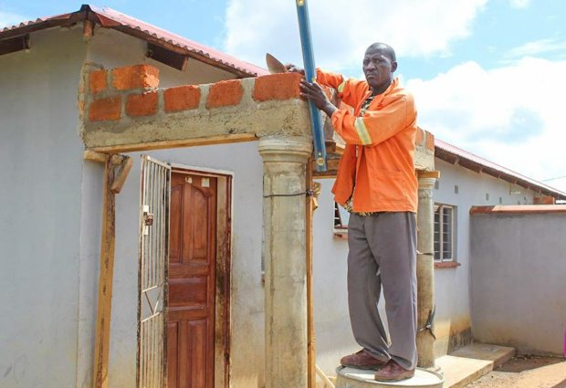 Success story: bricklayer Suckline Wachata, who takes part in First Quantum Mineral's Local Business Development programmes.